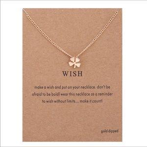 Jewelry - Wish lucky clover dainty necklace